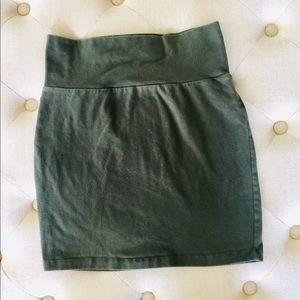 Charlotte Russe Skirts - 💜 Charlotte Russe Olive Green Bodycon Skirt 💜